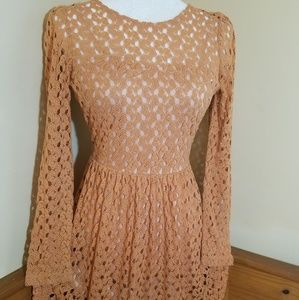 Altar'd State Long Sleeve Mini Dress Size M